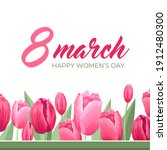 happy women's day greeting.... | Shutterstock .eps vector #1912480300
