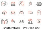 vector set of linear icons... | Shutterstock .eps vector #1912486120
