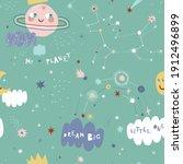 cute space saturn princess...   Shutterstock .eps vector #1912496899