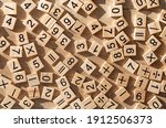 Scattered Wooden Plaques With...