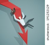 crisis concept   arrow graph... | Shutterstock .eps vector #191252129