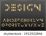 luxury gold minimalistic font.... | Shutterstock .eps vector #1912522846