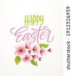 happy easter handwriting...   Shutterstock .eps vector #1912526959