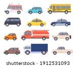 City Transport Cars. Urban Car...