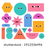 geometric shapes characters.... | Shutterstock .eps vector #1912536496