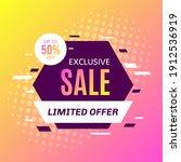 promotional sale banner... | Shutterstock .eps vector #1912536919