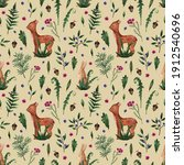 seamless watercolor pattern....   Shutterstock . vector #1912540696