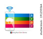 bring your own device cocept | Shutterstock .eps vector #191255564