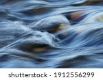 Closeup Of Motion Blurred Water ...