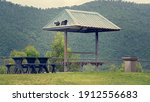 A Dilapidated Picnic Shelter On ...