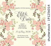 wedding invitation | Shutterstock .eps vector #191256014