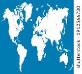 world map color vector modern.... | Shutterstock .eps vector #1912566730