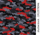 camouflage grid seamless...   Shutterstock .eps vector #1912578346
