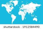 world map color vector modern.... | Shutterstock .eps vector #1912584490