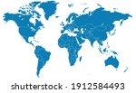 world map color vector modern.... | Shutterstock .eps vector #1912584493