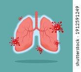 healthy lungs human internal...   Shutterstock .eps vector #1912591249