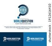 world question vector logo... | Shutterstock .eps vector #1912616410