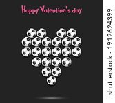happy valentines day. soccer... | Shutterstock .eps vector #1912624399