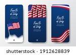 social media american flag... | Shutterstock .eps vector #1912628839