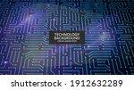 circuit board background. high... | Shutterstock .eps vector #1912632289