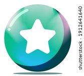 cartoon star button game gui 3d ...