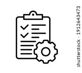 clipboard and gear icon....   Shutterstock .eps vector #1912643473