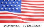 3d american flag illustration...   Shutterstock . vector #1912688236