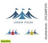 circus tent icon vector logo... | Shutterstock .eps vector #1912689193