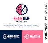 brain time vector logo template....   Shutterstock .eps vector #1912690063