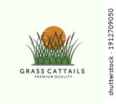Cattail Or Reed Logo Vector...