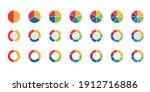 pie chart set vector design....