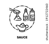 Sauce Flavoring Vector Icon...