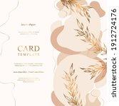 vector abstract card template... | Shutterstock .eps vector #1912724176