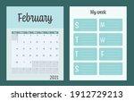 2 planners set   february... | Shutterstock .eps vector #1912729213