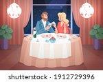 restaurant date. romantic... | Shutterstock .eps vector #1912729396