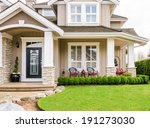 entrance of a luxury house with ... | Shutterstock . vector #191273030