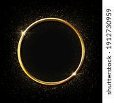 golden ring background. circle... | Shutterstock .eps vector #1912730959