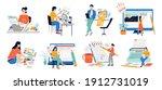copywriters. journalist...   Shutterstock .eps vector #1912731019