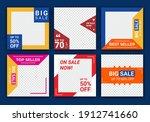 mega sale social media post... | Shutterstock .eps vector #1912741660
