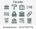 Premium Set Of Facade  S  Icons....