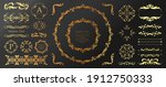 antique decorative materials ... | Shutterstock .eps vector #1912750333