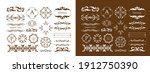 antique decorative materials ... | Shutterstock .eps vector #1912750390