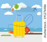 vacation travelling concept.... | Shutterstock .eps vector #191276486