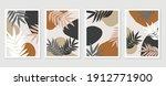 botanical wall art background... | Shutterstock .eps vector #1912771900