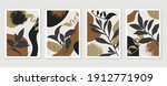 botanical wall art background... | Shutterstock .eps vector #1912771909