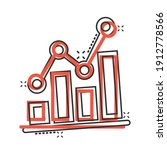 chart graph icon in comic style.... | Shutterstock .eps vector #1912778566