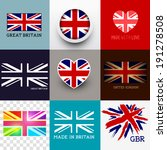 vector union jack collection.... | Shutterstock .eps vector #191278508