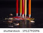 Five Sharpened Crayons In The...