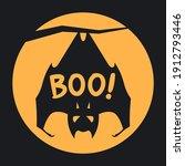 boo halloween design with full...   Shutterstock .eps vector #1912793446