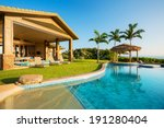 luxury home with swimming pool  ... | Shutterstock . vector #191280404